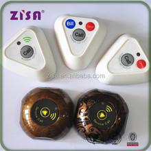 ZISA restaurant wireless waiter calling system call buttons