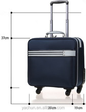 "16"" Stylish lightweight urban luggage trolley bag with laptop sleeve"
