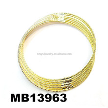 thin 22k gold bangle bracelets