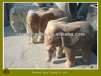lovely stone granite animal elephant carving statue for outdoor garden