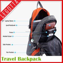 Innovational design good quality hot big high end strong laptop backpack