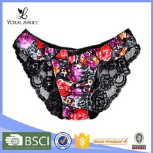 Low Price Good Quality Young Lady Flower Lace Girl'S Open Crotch Sexy Panty