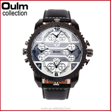 OULM international wrist watch brands ,multiple times four time zones working watches