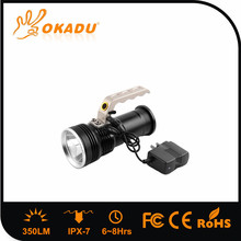 High Power 350Lm Long Runitme 10Hrs 2PCS 18650 Direct Charge CREE Q5 LED Torch With Handle