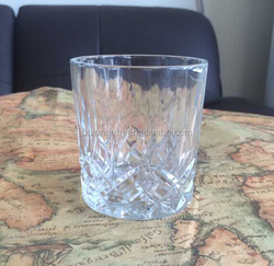 LongRun china supply 200ml new product modern cut crystal whisky glass cup