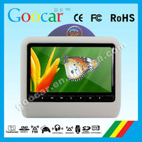 2014 NEW PRODUCTS car dvd headrest 9inch touch screen 16:9 monitor