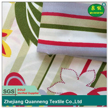 China textile manufacturer 100 polyester beautiful flower designs fabric painting