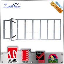 10 years warranty heat insulation high quality exterior glass folding door with Australian and New zealand standard