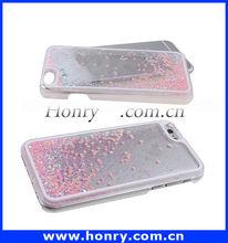 New arrival for iphone 6 moving liquid hard case, liquid mobile phone case