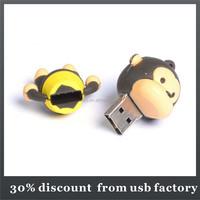 mass production 8GB monkey shape pvc usb flash stick