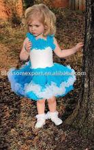 Pavão azul bebê recém-nascido Pettiskirt saia Tutu roupas vestido da menina Tutu de balé