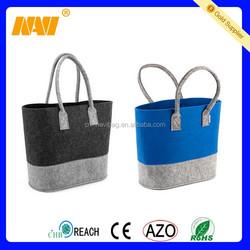 Eco-friendly High Quality Felt Lady Handbag Women Felt Shoulder Bag Tote Bag with Handle Strap
