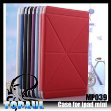 Multiple Functional Rotating Leather Case for ipad mini