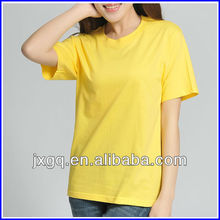 Branded tshirts cheap wholesale fashion 100% cotton women plain tshirt