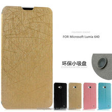 Wholesale New Product CellPhone Leather Flip Cover for Microsoft Lumia 640,fashion flip case for lumia 640 with stand from china