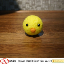 2015 New arrival !100% wool felt Yellow chicken toy for kids