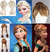 Best selling fluffy very long hair wigs popular frozen elsa wig for adult snow queen W4018