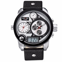 WEIDE Men Rubber Strap For Watch Steel Band Quarzt Watch Manufacture China