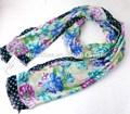 Wl-486 100% acrílico bonito floral com dot impresso mulheres árabes cachecóis