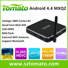 Android4.4 TV Box Network Hot Free Sex Porn Video Amlogic S805 4K2K H.265 MXQ Advertising Streaming Media Player TV Box