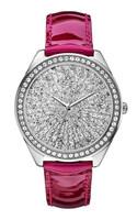 fashion vogue charm quartz wrist diamond ladies leather watch