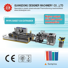5 layer PP/PS sheet plastic extrusion machine WJP120/90/65-1000.