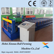 Russia C18 XINNUO Manufacture Color Steel Galvanized Roof Tiles Roll Forming Machine