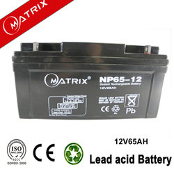 12v 65ah ce-approved lead acid rechargeable battery wholesale