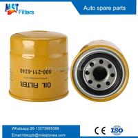 PC60 PC100 excavator machine oil filter 600-211-6240 600-211-6242 6002116240 4D95 Forklift oil filter