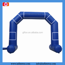 Moveable outdoor event inflatable entrance arch dark blue finish line arch for race
