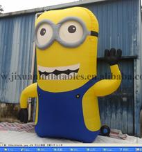 3mH Hot Sale Inflatable Minions Cartoon, Custom Inflatable Advertising Cartoon