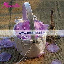 Ribbons & Crystals Decorating Flower Girl Basket