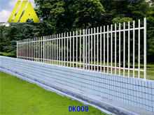 DK009 Alibaba express Hot-dipped galvanized metal picket fence/fencing