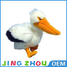vivi animal that look real oem plush toy,stuffed birds for sale,plush pelican