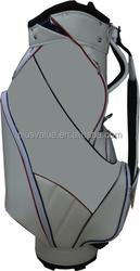 wholesale high quality custom handmade PU leather golf bag travel cover
