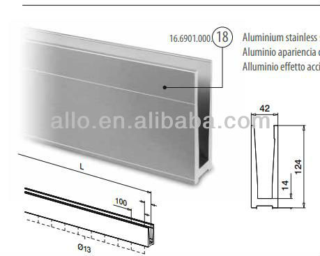 aluminum profile for tempered glass railing u channel glass railings glass balustrade buy. Black Bedroom Furniture Sets. Home Design Ideas