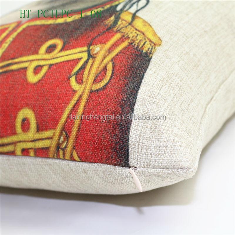Decorative Pillow Covers Washable : Wholesale New Design Retro Vintage Decorative, Wholesale Custom Printed Cushion Cover Linen ...