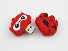 China new product Baymax usb flash drive 8gb cute flat usb stick of silicon cartoon usb pen drive 1gb