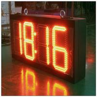 p6 indoor full color led display screen led digital display desk calendar alarm clock led display for time date temperature