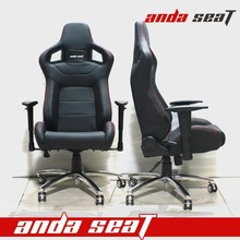 All Black Racing Seat Office Chair Wide Office Chair AD-2/PVC