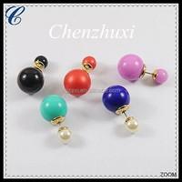 Hypoallergenic Fashion Earrings,Cheap Wholesale Fancy Imitation Pearl Stud Earrings