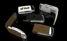 Wholesale Leather & metal keyring chain USB flash drive PenDrive fashion creativo USB 2.0 memory stick 16gb 8gb 4gb 2gb U Disk