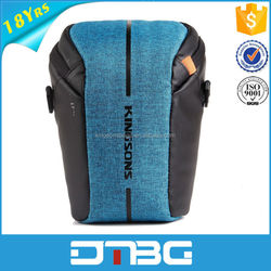 Trendy SLR Camera Shoulder Bag with Front and Side Mesh Pocket Storage