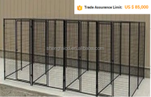 Large outdoor chain link dog kennel / dog cages, welded wire dog kennel / pet enclosure