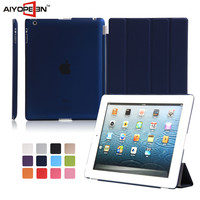 hot selling Good qulity ultra thin magnetic 4 folder smart case for ipad 234 Stand Protective Case