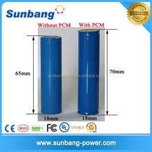 led flashlight torch battery 1500mah 3.7v 18500 with CE,Rohs,MSDS