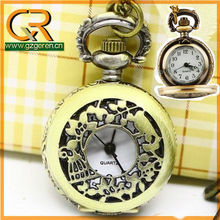 LA005 China top brand factory mini vintage bird cage pocket watch