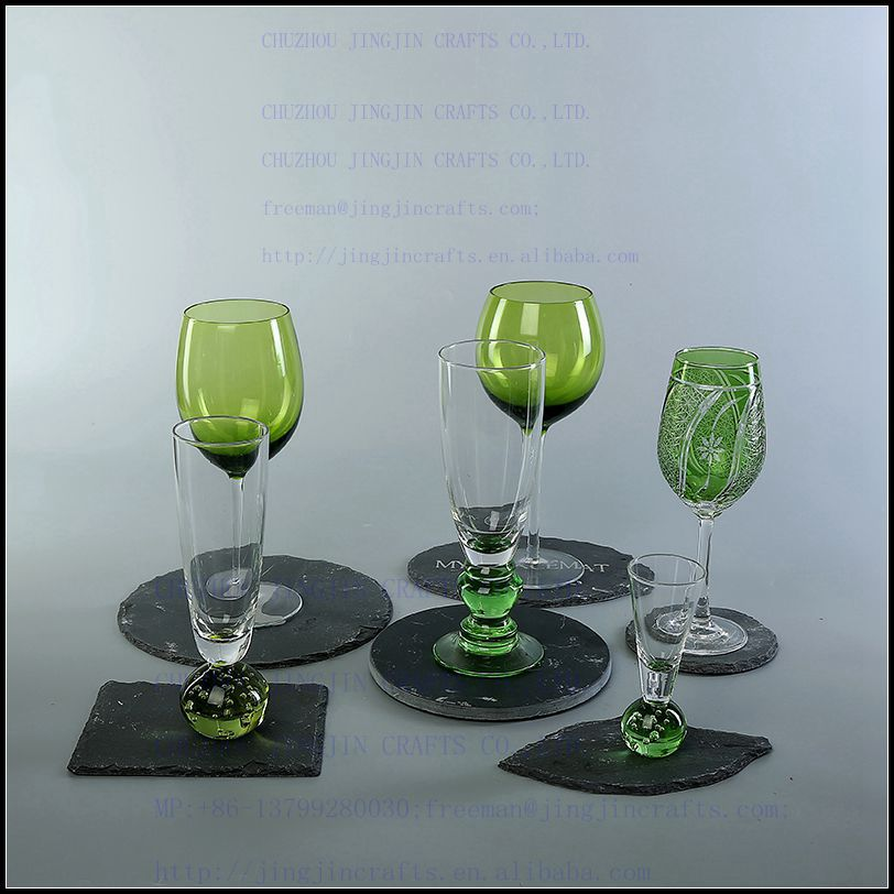 green wine glass champagne flute