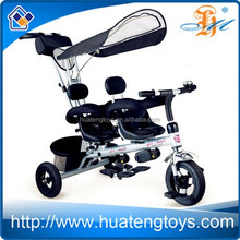 H99347 children tandem tricycle built for two tandem tricycle