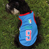 Summer Collection Dog Two Legs Tank Tops Football Vest